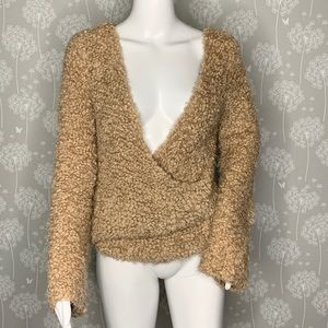 Free People Sweater Size Small Beige Textured